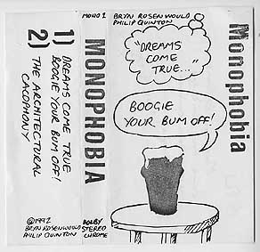 The surviving cassette cover of the first Monophobia single