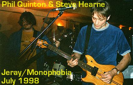 Jeray at Location Zeebrabar, Soho, London, July 1998.
